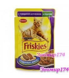 Фрискис корм для кошек  Ягненок в подливе 85гр