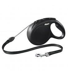 Поводок-рулетка Flexi NEW CLASSIC M, черная, 5 метров, трос, до 20 кг.