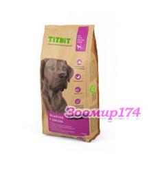 TITBIT корм сухой для собак крупных пород ягненок с рисом