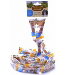 Лакомство для собак мини-пород: Мини-Колбаски из Утки и Ягненка 8гр