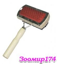 Щетка двусторонняя с деревянной ручкой ZМ1052-10