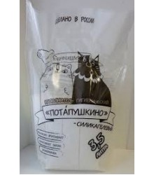 Потапушкино (кристаллы) силикагелевый наполнитель для кошачьих туалетов  3,5 литра