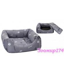 Лежак квадратный пухлый с подушкой 42х42х16 (9112)
