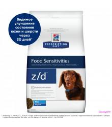Hill's Prescription Diet z/d Mini для собак малых пород при пищевой аллергии, диетический гипоаллеренный