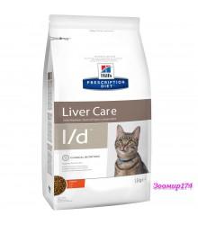 Hill's Prescription Diet l/d Liver Care корм для кошек диета для поддержания здоровья печени курица 1,5
