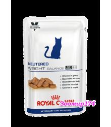 Royal Canin (Роял Канин) Neutered Weight Balance (в соусе) Корм консервированный полнорационный для взрослых кошек с момента стерилизации до 7 лет, склонных