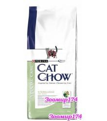 Cat Chow (Кэт Чао) Sterilized для Кастрированных и Стерилизованных Кошек с индейкой