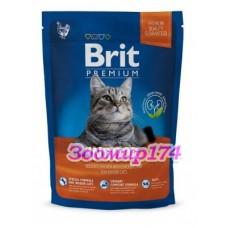 Brit Premium Cat Indoor для кошек домашнего содержания с курицей и печенью
