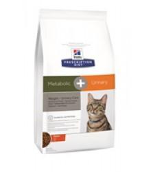 Hill's Prescription Diet Metabolic + Urinary  Weight + Urinary Care сухой корм для кошек с курицей 1,5 кг