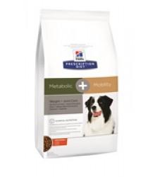 Hill's Prescription Diet Metabolic + Mobility Weight+Joint Care корм для собак диета для поддержания оптимального веса и здоровья суставов с курицей.