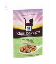 Hill's Ideal Balance пауч для кошек от 1 года до 7 лет с сочной индейкой 85 г