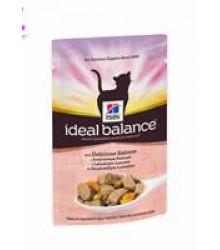 Hill's Ideal Balance пауч для кошек от 1 года до 7 лет с аппетитным лососем 85 г