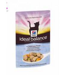 Hill's Ideal Balance пауч для кошек от 1 года до 7 лет с аппетитной форелью 85 г