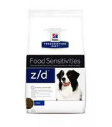 Hill's Prescription Diet z/d Food Sensitivities корм для собак диета для поддержания здоровья кожи и при пищевой аллергии.