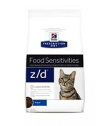 Hill's Prescription Diet z/d Food Sensitivities корм для кошек диета для поддержания здоровья кожи и при пищевой аллергии 2 кг.