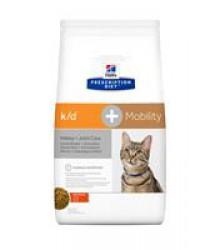 Hill's Prescription Diet k/d + Mobility Kidney+Joint Care корм для кошек диета для поддержания здоровья почек и суставов одновременно с курицей 2 кг