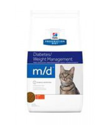 Hill's Prescription Diet m/d Diabetes/Weight Management корм для кошек диета для поддержания здоровья при сахарном диабете курица 1,5 кг