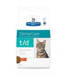 Hill's Prescription Diet t/d Dental Care корм для кошек диета для поддержания здоровья ротовой полости курица 1,5 кг