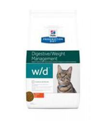 Hill's Prescription Diet w/d Digestive/Weight Management корм для кошек диета для поддержания оптимального веса и здоровья при сахарном диабете курица.