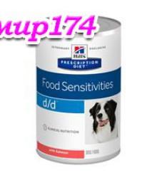 Hill's Prescription Diet d/d Food Sensitivities консервы для собак диета для поддержания здоровья кожи и при пищевой аллергии с лососем 370 г