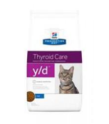 Hill's Prescription Diet y/d Thyroid Care корм для кошек диета для поддержания здоровья щитовидной железы 1,5 кг