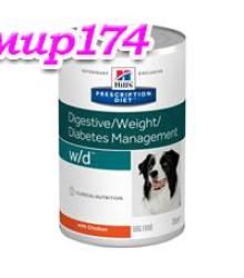Hill's Prescription Diet w/d Digestive/Weight Management консервы для собак диета для поддержания оптимального веса и здоровья при сахарном диабете с курицей