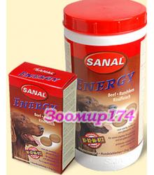 Sanal Витамины для Собак Энергия с Мясом Говядины 100таб