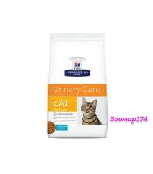Hill's Prescription Diet c/d Multicare Urinary Care корм для кошек диета для поддержания здоровья мочевыводящих путей с океанической рыбой 1,5 кг