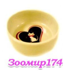 Миска керамическая Гламур для животных 0.33л (HD-P204)