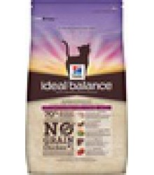 Hill's Ideal Balance No Grain натуральный беззерновой сухой корм для кошек с курицей и картофелем.
