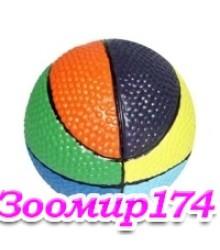 Игрушка из латекса со звуком Мяч разноцветный 7см RJP0028