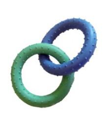 Игрушка резиновая Два Кольца 20см 331108 (360638)
