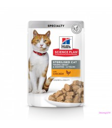 Hill's Science Plan Sterilised Cat влажный корм для кошек и котят от 6 месяцев курица 85 г