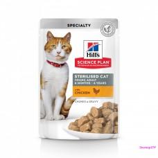Hill's Science Plan Sterilised Cat пауч для молодых кошек от 6 месяцев до 6 лет 85 г