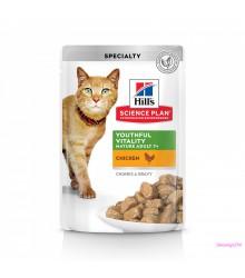 Hill's Science Plan Senior Vitality  аппетитные кусочки в соусе для кошек старше 7 лет 85 г