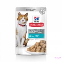 Hill's Science Plan Sterilised Cat влажный корм для кошек и котят от 6 месяцев с форелью 85 г
