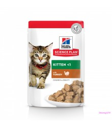 Hill's Science Plan Healthy Development пауч для котят до 12 месяцев с индейкой 85 г
