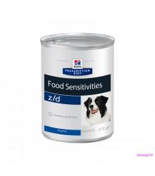 Hill's Prescription Diet z/d Food Sensitivities консервы для собак диета для поддержания здоровья кожи и при пищевой аллергии 370 г
