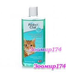 8 in 1 Shed Control & Hairball Shampoo for Cats - Шампунь для кошек против линьки и волосяных комков 295мл