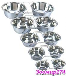 Чашки металлические с подставкой 1404