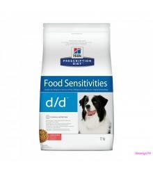 Hill's Prescription Diet d/d Food Sensitivities корм для собак диета для поддержания здоровья кожи и при пищевой аллергии лосось и рис.