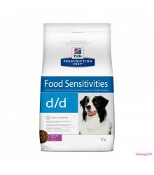 Hill's Prescription Diet d/d Food Sensitivities корм для собак диета для поддержания здоровья кожи и при пищевой аллергии утка и рис.