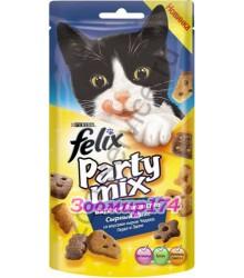 Felix (Феликс) Party Mix Лакомство для Кошек Сырный Микс