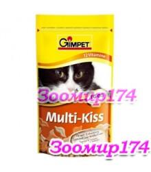 Gimpet Витамины Multi-Kiss 12 витаминов с ТГОС для кошек 65таб