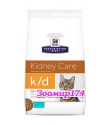 Hill's Prescription Diet k/d Kidney Care корм для кошек диета для поддержания здоровья почек с тунцом.