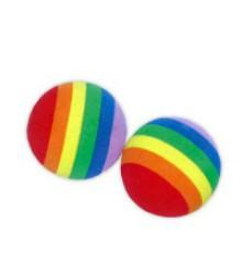 Игрушка Мяч пробковый полосатый 4.8см (360013)
