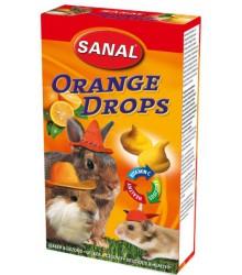 САНАЛ для грызунов дропсы Апельсин + вит. С 45гр