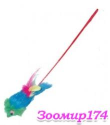 Игрушка меховая Мышь-дразнилка на удочке (363274 HWT042)