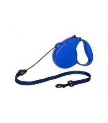 Поводок-рулетка Flexi New STANDARD - 3 L, синяя, 5метров, трос, до 50кг
