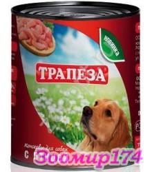 Трапеза с птицей - консерва для собак 750гр